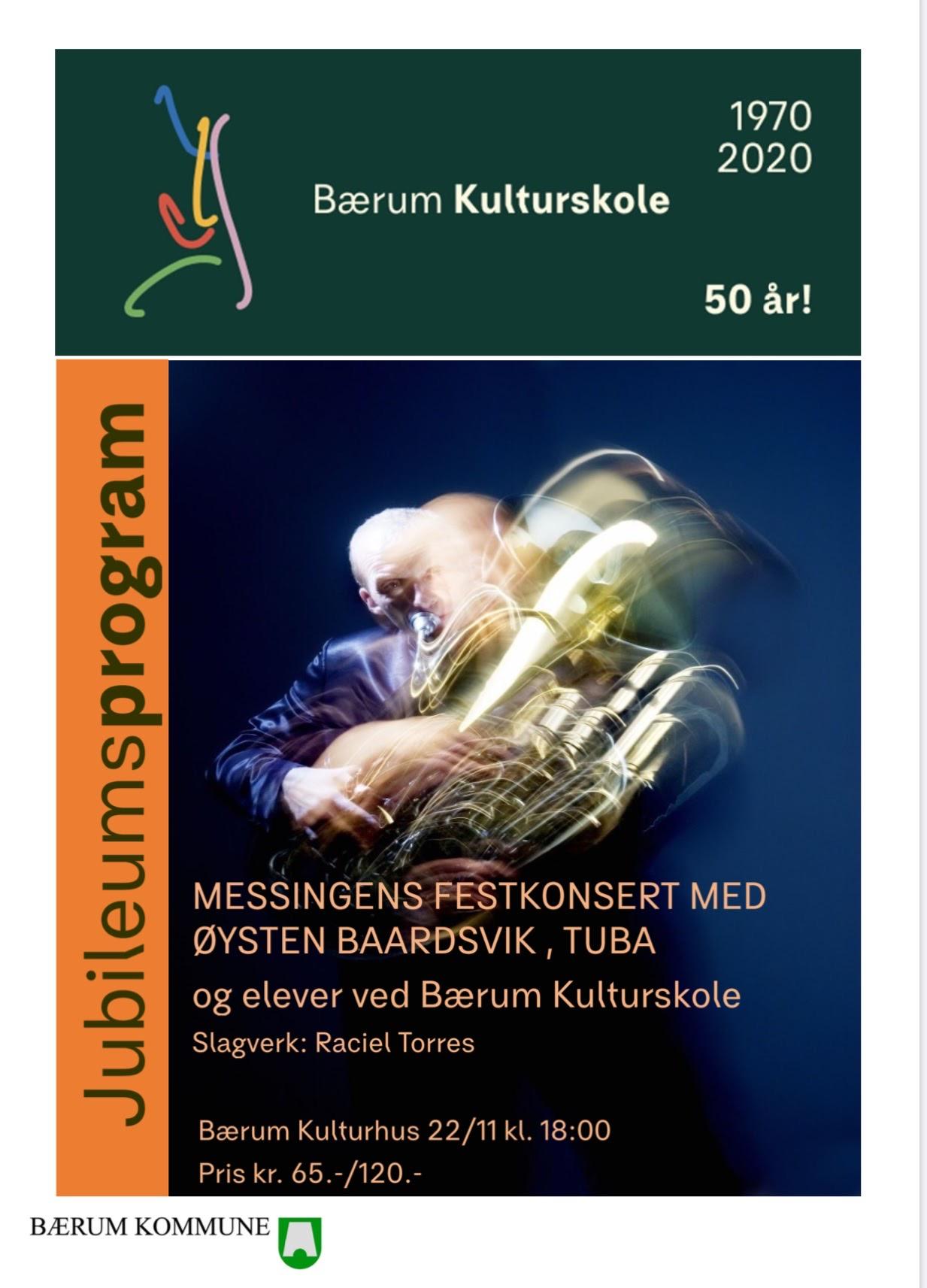 Bærum kulturskole 50 år Festkonserten med Øystein Baadsvik som solist